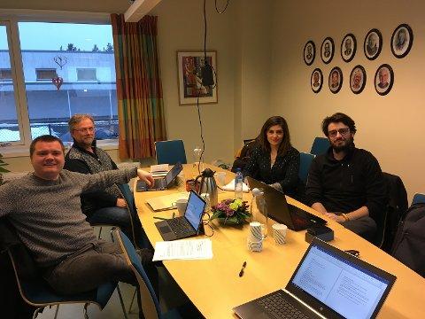 (f.v) Stig Solberg, Erling Solberg, Camille Boyer, Emeric Fleur.