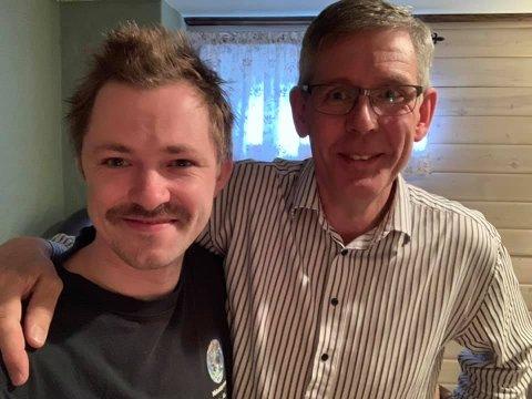 Vinnar av Påskelabyrinten 2019, Emil André Erstad, takkar svigerfar Øyvind Kleven for god hjelp under finalen.
