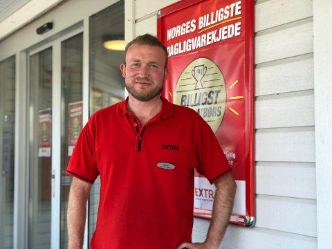 Runar Andersen, fungerande butikksjef hjå Coop Extra Manger, fortel om ein god sommar.