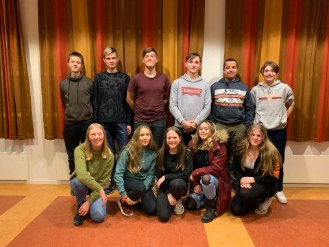 Årets 12 unge arrangørar for UKM Nordhordland