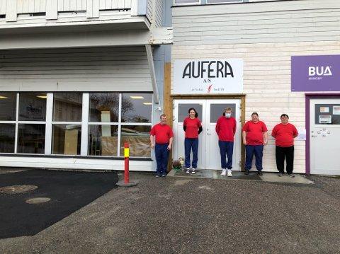 Aufera har flytta inn i dei gamle lokala til Rema 1000 på Manger.