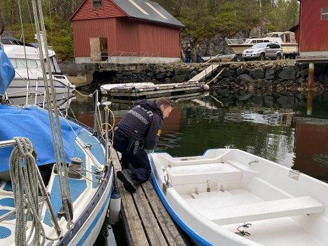 Her etterforsker politiet eit påhengstjuveri i Snekkevika på Radøy i mai. No vil dei stanse tjuvane før dei stel.