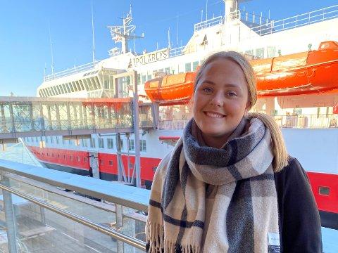 Yvonne Gudmundsen er lærling på Hurtugruta.