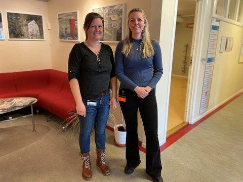 NYTT PROSJEKT: (F.v.) Dagleg leiar Vivian Våge og frivilligkoordinator Kristin Kvamme Rasch i Gulen frivilligsentral gjer seg til å starte opp utlånssentralen.