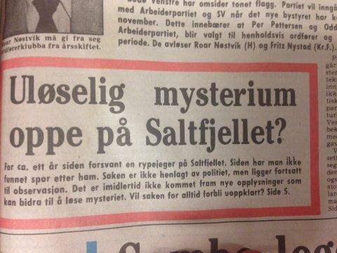 Faksimile fra forsiden til Nordlandsposten i september 1984.
