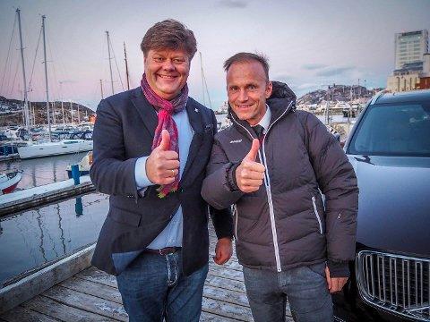 Morten Chr. Jakhelln og Thor Drechsler har stor tro på framtiden, nå i hver sin bransje. (Foto: Christine Karijord)