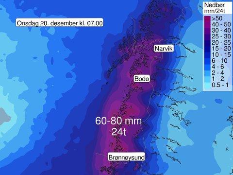 SNØSKREDFARE: Fra tirsdag er det varslet betydelig snøskredfare i Nord-Norge. Foto: Meteorologene