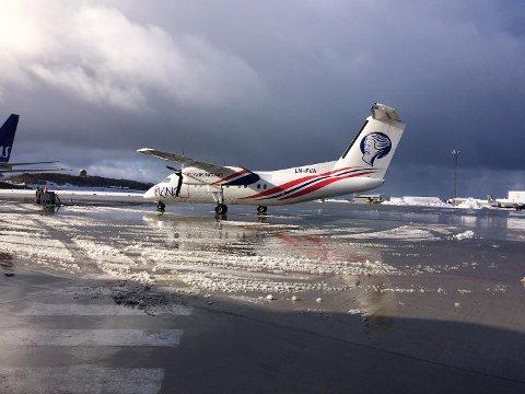 FlyViking på plass i Bodø lufthavn.