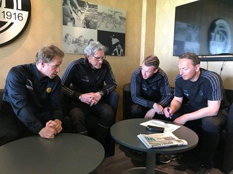 Cato Hansen, Tom Dent og Jan Erik Bjerk skal bidra for NTG i Bodø. Her sammen med Ørjan Berg..