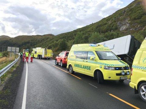 En kvinne i 70-årene omkom på E10 i Vestvågøy i september.