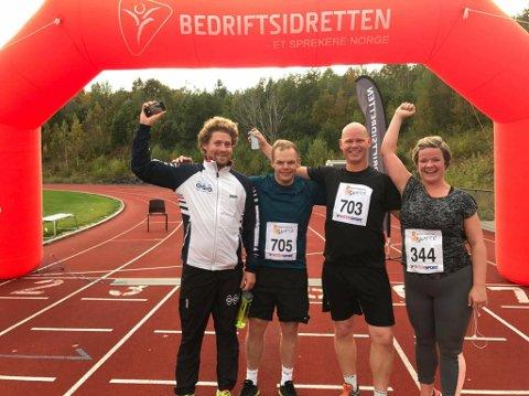 Christoffer Aalerud, Aleksander Holand, Magne Sagvolden og Hege Røsto Jensen kunne juble etter endt Gampen-sesong 2017.