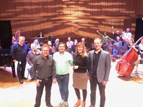 Rolf Cato Raade, Terje Cruickshank, Grethe Monica Fjærvoll og Peter Krarup.