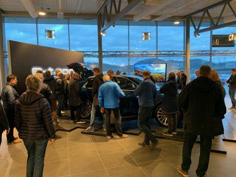 POPULÆR: Audi e-tron var åpenbart noe bodøfolket interesserte seg for da den var på utstilling i 2018, som bildet viser. Nå er det den som leder salget i Bodø på Audi-modeller.