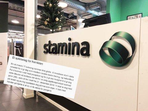 Nyhetsbrevet: Dette sto nederst i nyhetsbreve alle medlemmene i Stamina fikk tilsendt fredag 7. desember.