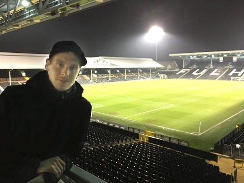 Craven Cottage: Stefan Johansen liker seg i Fulham og på Craven Cottage. Foto: Stian Høgland