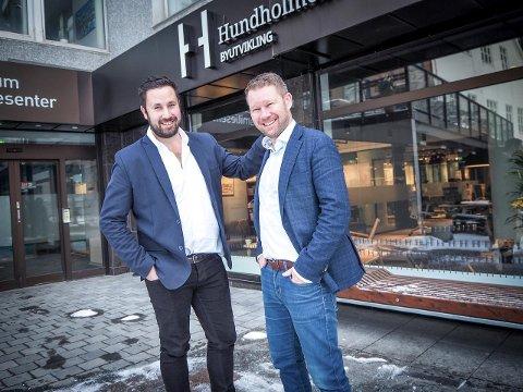 God kjemi: Sammen med direktør eiendomsutvikling Anders Mehus Coucheron skal prosjektleder Mathias Andreassen jobbe med blant annet Firkanten og Sjøgata 27.