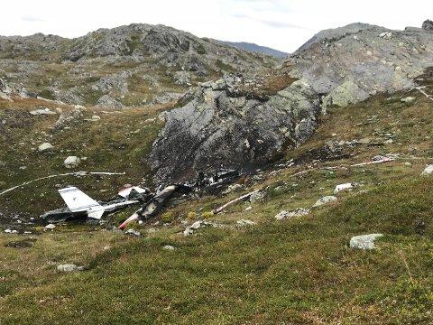 Mikroflyet var 20 meter fra toppen av fjellet.