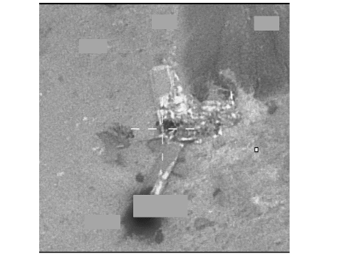 Bildet viser funn av det havarerte flyet, tatt av Forsvarets F-16 litt over klokken ett natt til i dag.