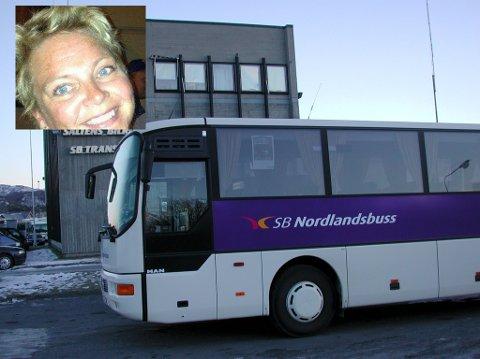 Skremmende busstur: Tove Blomseth fra Fauske skulle ta bussen til Bodø for å besøke sin mor. Lite viste hun at lørdagens busstur, skulle bli en opplevelse hun sent vil glemme.