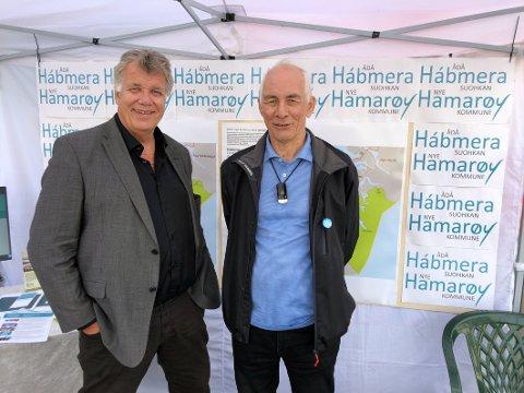 Endring: Jan-Folke Sandnes (t.v.) er ikke lenger Hamarøy Høyres ordførerkandidat. Det er Filip Mikkelsen.