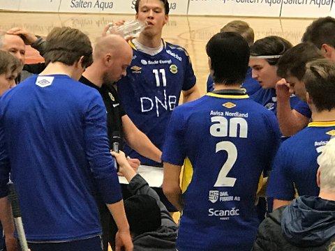 Sebastian Steffens ledet BHK mot Kristiansand i Bjørn Asphaugs fravær. Foto: Freddy Toresen