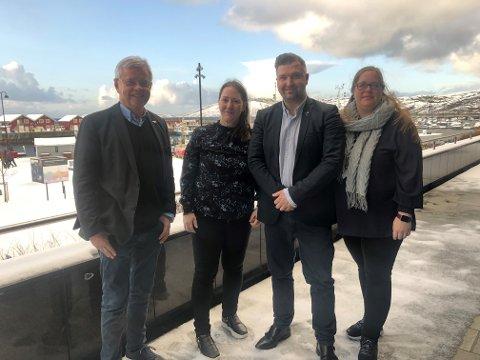 Leder Ole Henrik Hjartøy, kvinneforumsleder Diana Johnsen, andre nestleder Thomas A. Lehre og første nestleder Trine Remman.