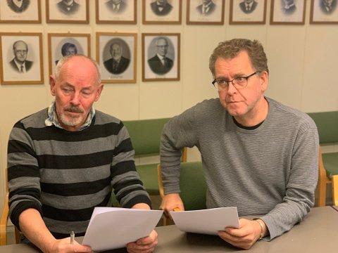 Frykter konsekvenser: Ordfører Rune Berg og varaordfører Sverre Breivik er svært kritisk til forslaget som nå foreslås.