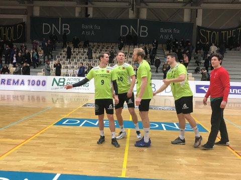ØIF Arendal-stjernen Andre Lindboe (til venstre) vil savne BHK i eliteserien. Foto: Stian Høgland