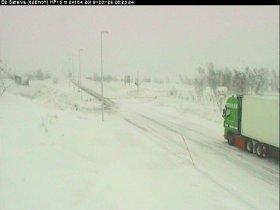 Webkamera fra Sørelva, Saltfjellet like før 08.30 fredag.