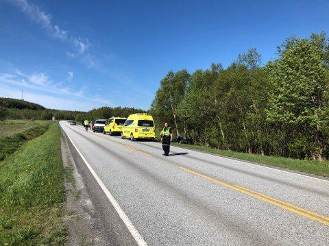 Trafikkulykke på Godøynes.
