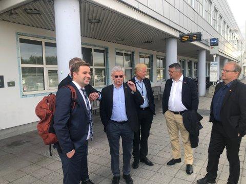 Røpet nyhet: Allan Ellingsen, Ole Hjartøy, Dag Falk-Pedersen og Kjell Børje Freiberg.