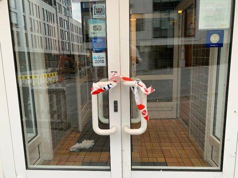 Bodø hotell ble stengt da krimteknikere gjorde sine undersøkelser,.