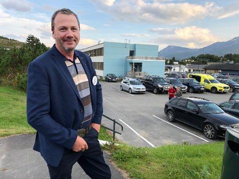 Innflyttingsklar: Øystein Laxaa er klar til å flytte inn på rådhuset i Leinesfjord, som Steigens neste ordfører.