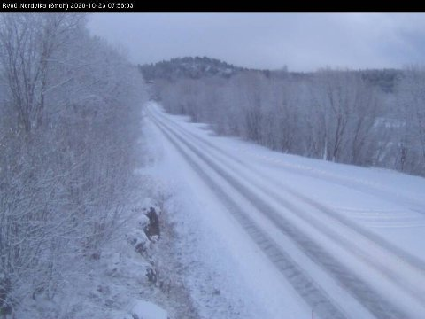Statens vegvesens kamera på riksvei 80 i Nordvika.