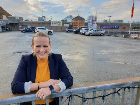 PYRAMIDEN: Malin Påve Solberg har kontorer i Pyramiden i Tromsdalen.