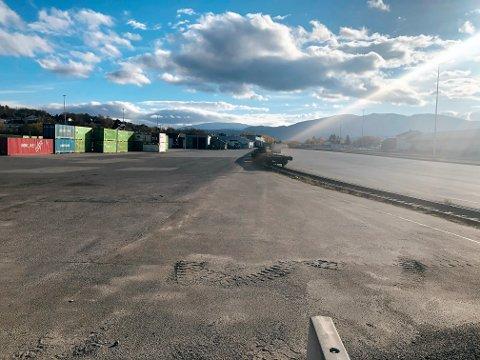 Godsterminalen i Fauske utvides for nesten 150 millioner kroner. Foto: Michael Jensen Olafsen
