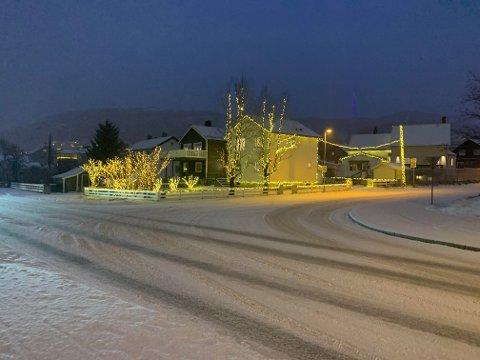 Her har jula ankommet Stig Grundsrøms bolig.