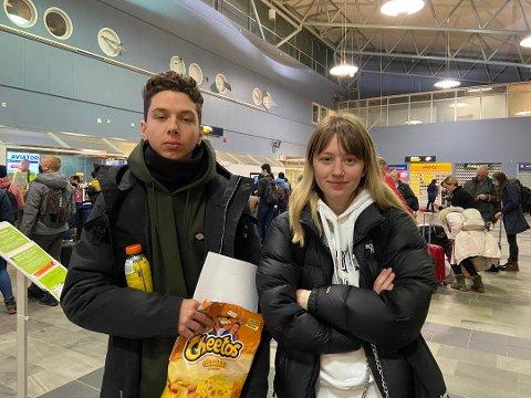 Marko Balla (23) og Marilena Spyrou (19) skulle vært med flyet som aldri kom til Tromsø.