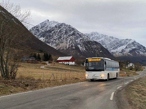 Bedre tilbud: Busstilbudet mellom Steigen og Bodø vil bli forbedret fra 1. februar.