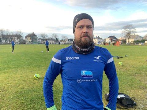 SISTE ØKT PÅ: Tirsdag hadde Christian Grindheim sin siste økt på Haugebanen som FKH-spiller. Onsdag spiller han sin siste kamp på Haugesund stadion.