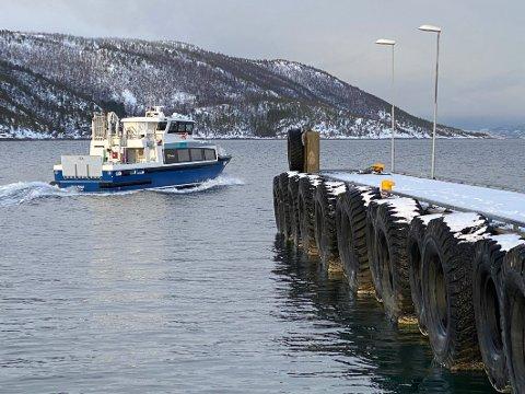 Nærhet: Fergekaia på Drag ligger like i nærheten av kaia som hurtigbåten i dag benytter.