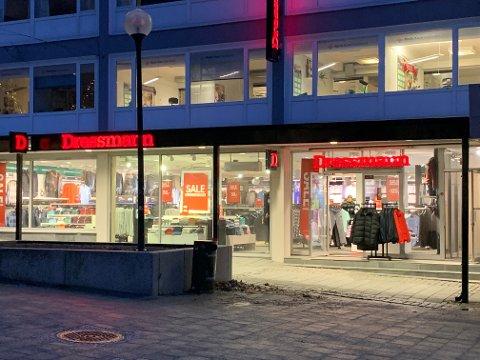 PERMITTERINGER: Dressmann er blant kjedene i Varner-konsernet som rammes. Her fra den tidligere butikken i Storgata i Bodø.