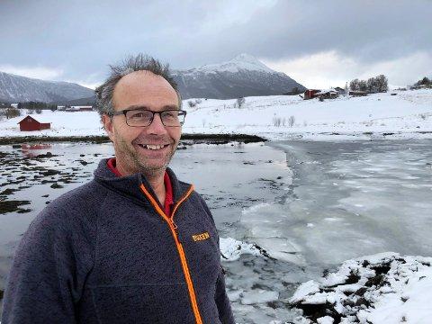Kan starte: Byggmester Ole Jakob Aalstad har fått ja på søknaden sin om å gå igang med kaiprosjekt på Ålstadøya.