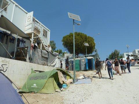Lesvos, Hellas 20190901.  Forholdene er nå verre enn noensinne i den overfylte Moria-leiren på Lesvos, i følge blant andre representanter for Leger Uten Grenser. Foto: Ann Fredriksen / NTB scanpix