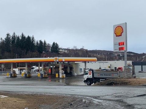 Bensin billigst: Her på Schell Hunstad var det onsdag morgen dieselen som var dyrest.