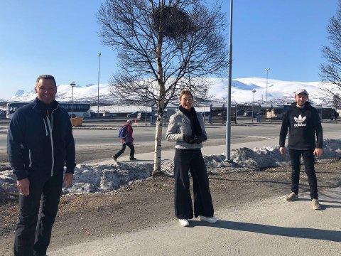 VIL ÅPNE DØRENE: Fra venstre: Oddvar Pedersen fra Tromsø treningssenter, Lill Jorid Andreassen fra Exolo og Hans Christian B. Jensen fra Gym9000.