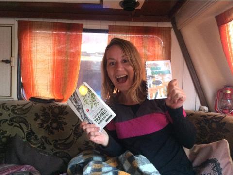Ida-Mari Dalmo lever det gode liv i en campingvogn.