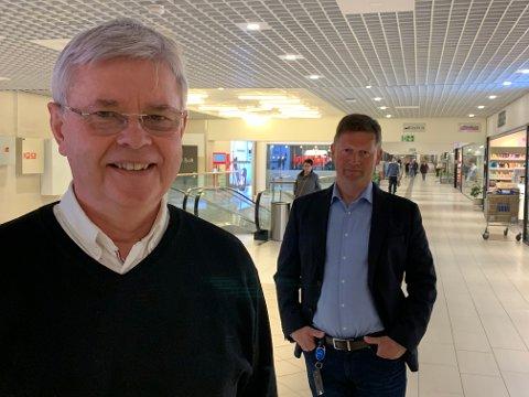 Ole Hjartøy er Coop Nordlands nye styreleder, etter at Odd Emil Ingebrigtsen ble utnevnt til ny statsråd av Erna Solberg. Bak står en fornøyd Lars Arve Jakobsen, administrerende direktør i Coop Nordland.