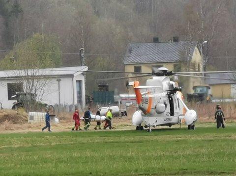 Ulykke: Mannen som var involvert i den alvorlige ulykken ble først fløyet til Nordlandssykehuset i Bodø, for så å bli fraktet videre til Universitetssykehuset Nord-Norge (UNN) i Tromsø.
