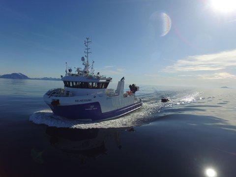 Fine forhold ble observert da sola kastet glans over Vestfjorden, søndag 31. mai.